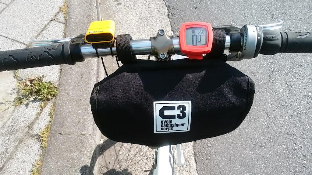 自転車ハンドルバック