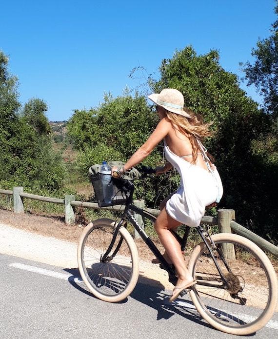 自転車 日焼け