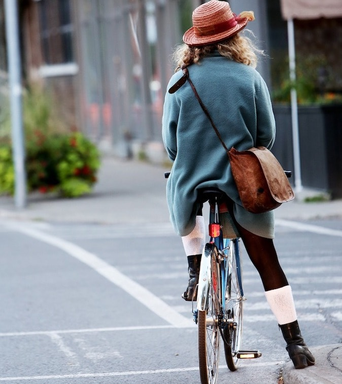自転車足付き路肩