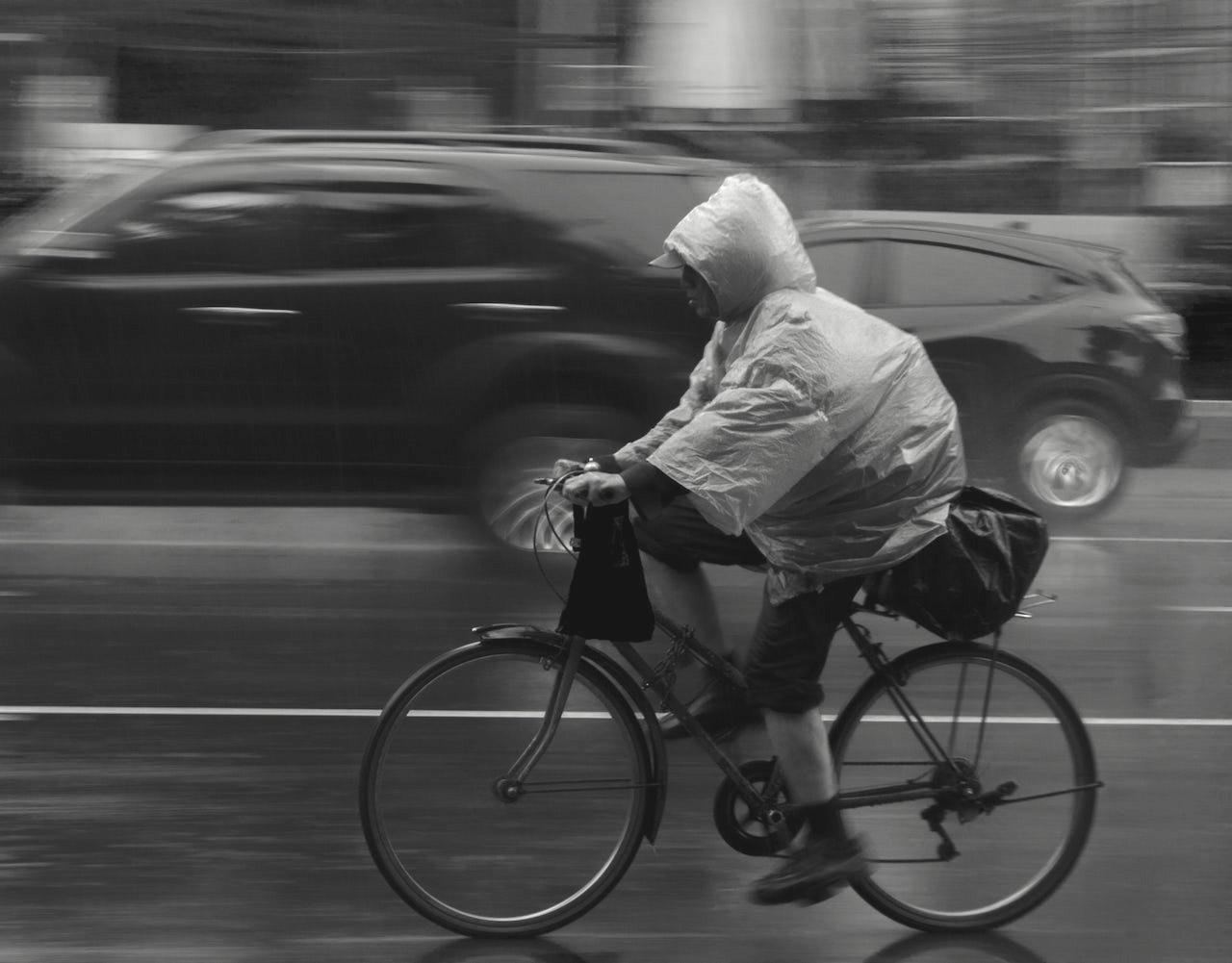 自転車雨ポンチョ