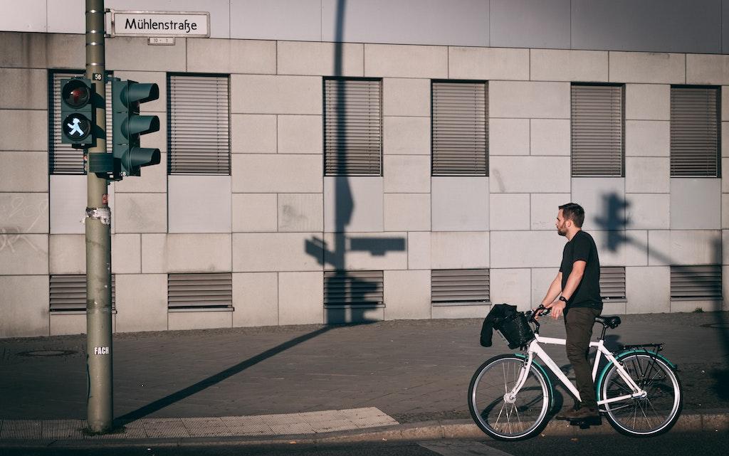 自転車 信号待ち