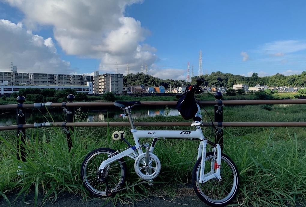 私の折りたたみ自転車