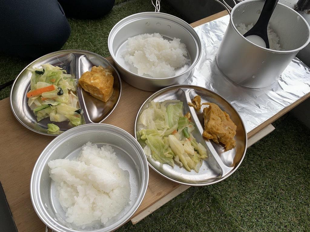 ベランダキャンプ風ご飯