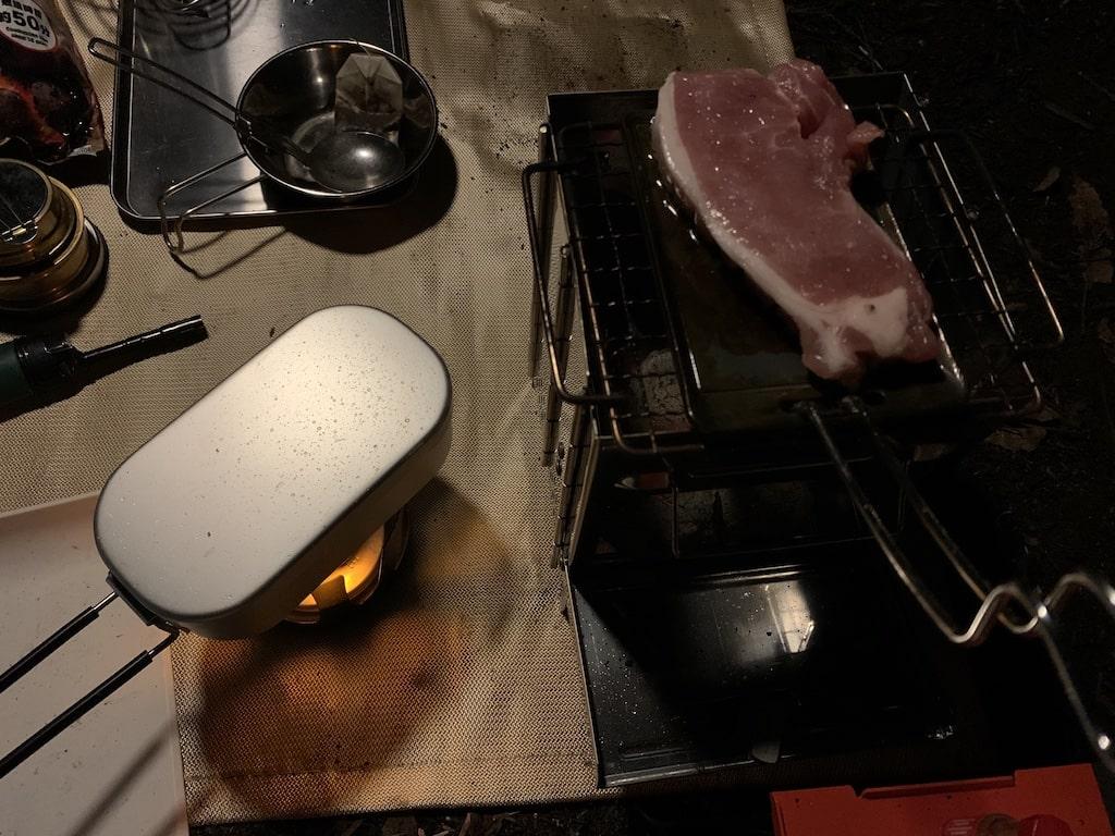 初キャンプ自動炊飯