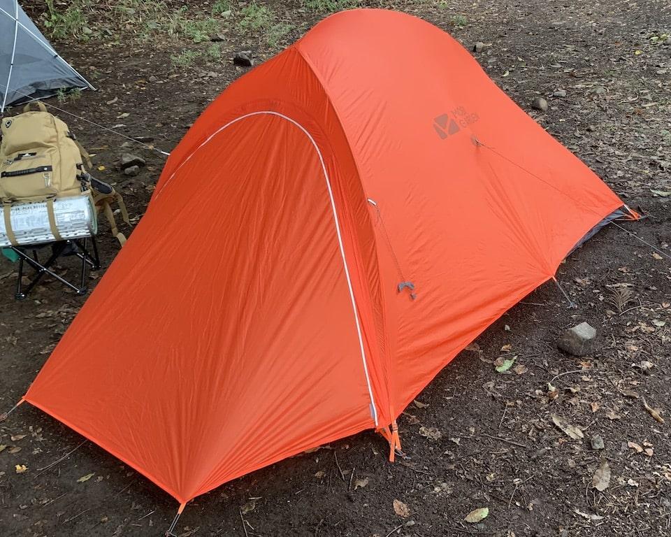 テント全景のアップ