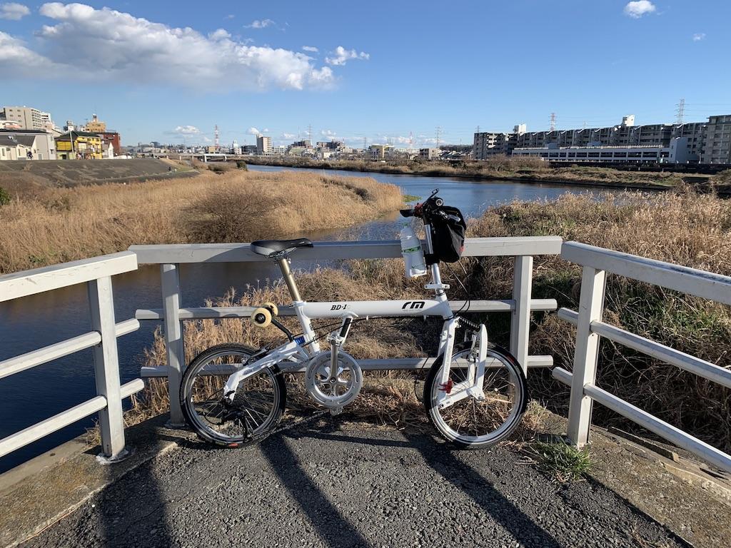 早渕川と鶴見川合流地点