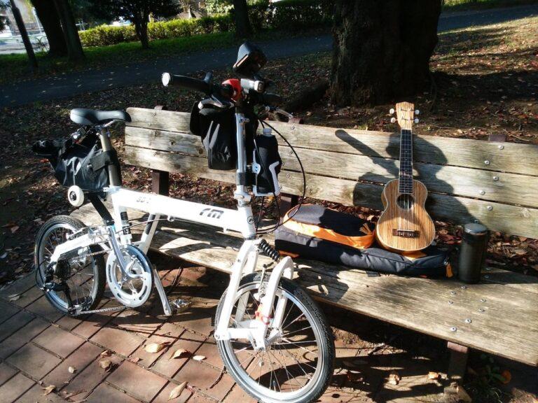 自転車でウクレレ