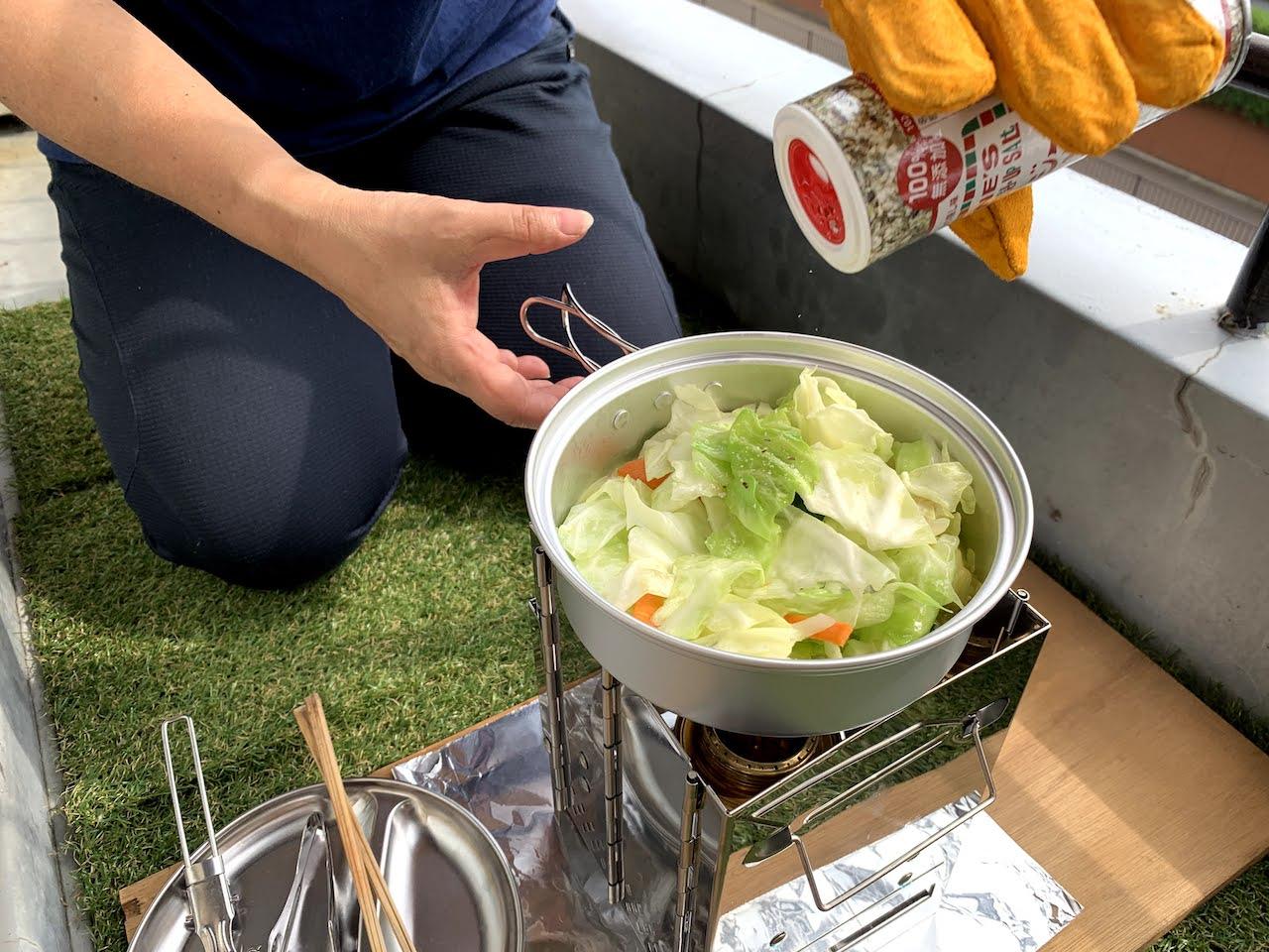 野菜炒め製作中
