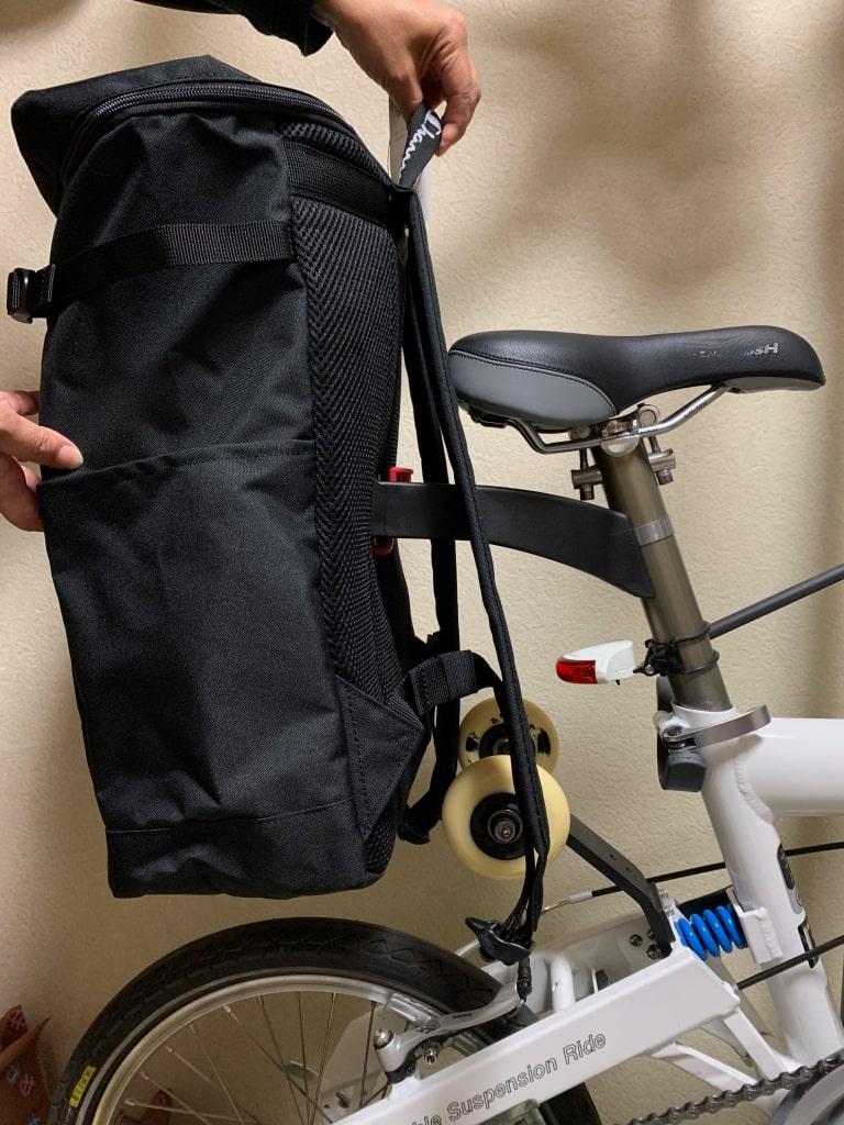リクセンカウル エクステンダー バシル プレート自転車への取り付け位置を決める