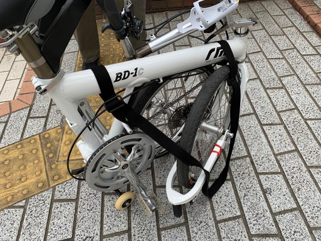 自転車にショルダーストラップをつける