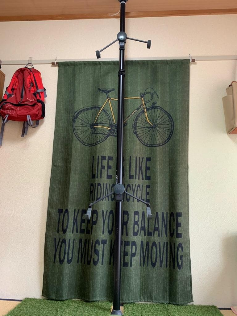 バイクタワー設置完了