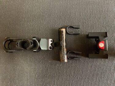 リクセンカウルのフロントアダプターを、折り畳み自転車のハンドルポストにつける挑戦