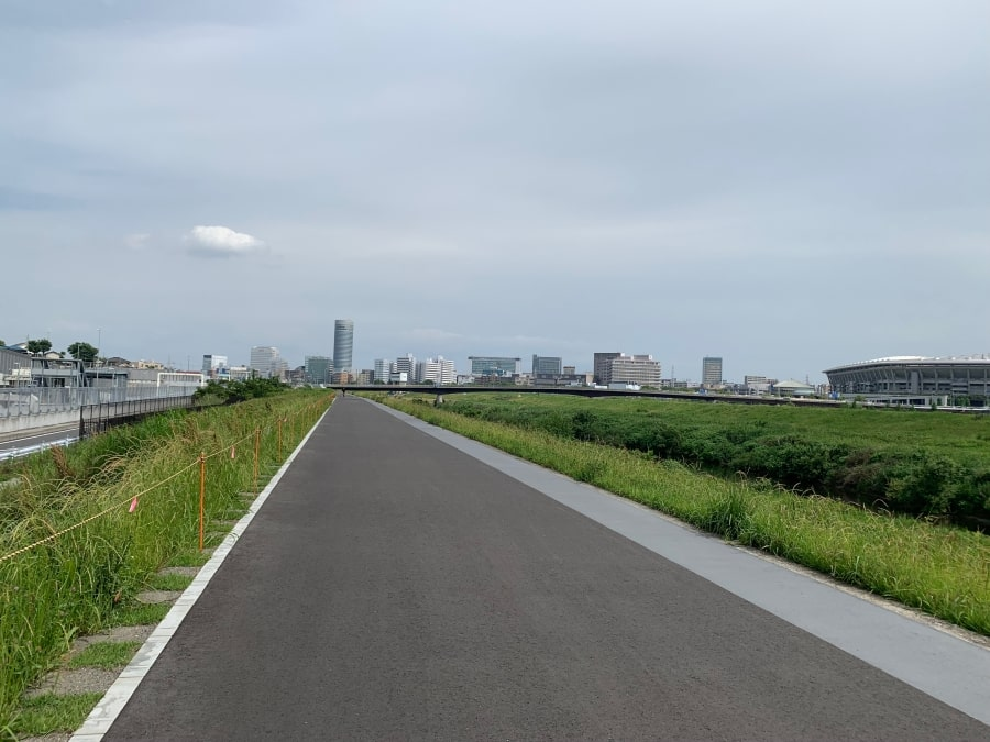 鶴見川 新横浜 亀の甲橋