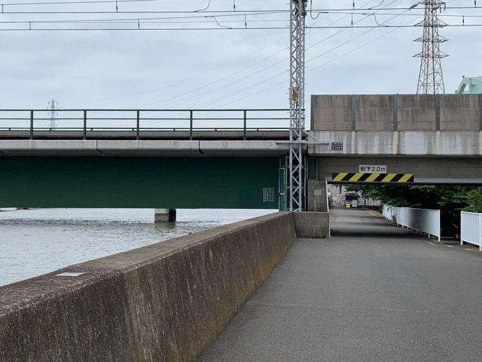 鶴見川 京急 線路