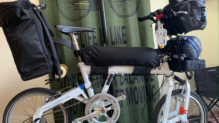 折り畳み自転車 ソロキャンプ 荷物 積載