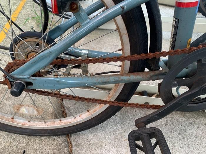 自転車 チェーン サビ