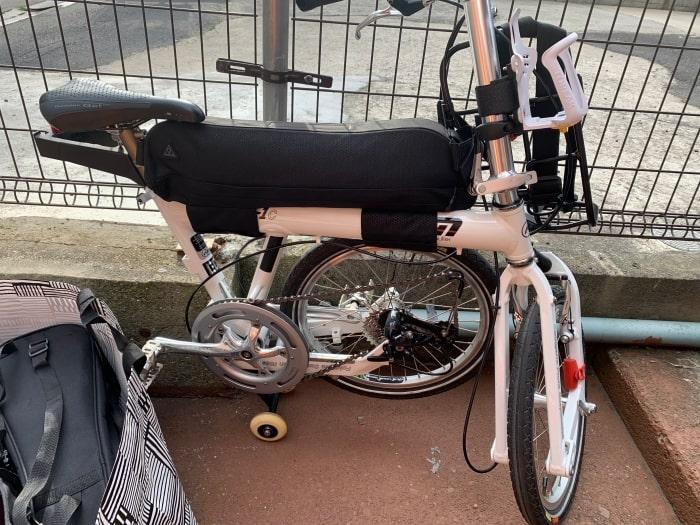 折り畳み自転車 トップチューブバッグ