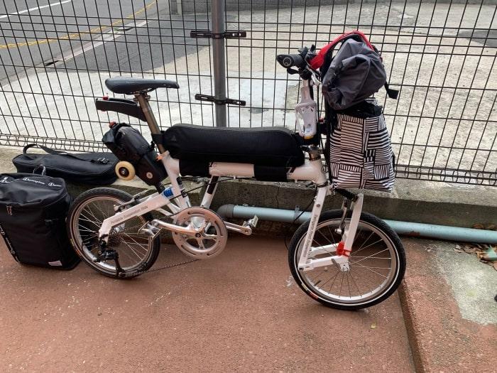 折り畳み自転車 サドルバッグ
