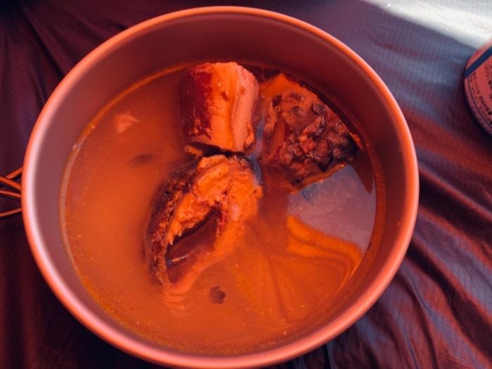 デイキャンプ 炊飯 サバ缶