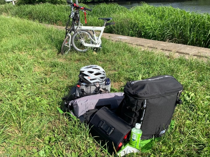 デイキャンプ 自転車 撤収