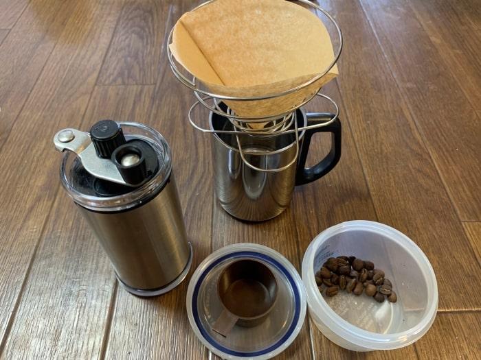 コーヒーミル コーヒーバネット フィルター コーヒー豆